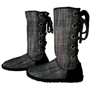 SUMMER UGG Harbour Back Lace Up Mid-Calf boots